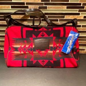 Pendleton Native Aztec Vintage Red Wool Crossbody
